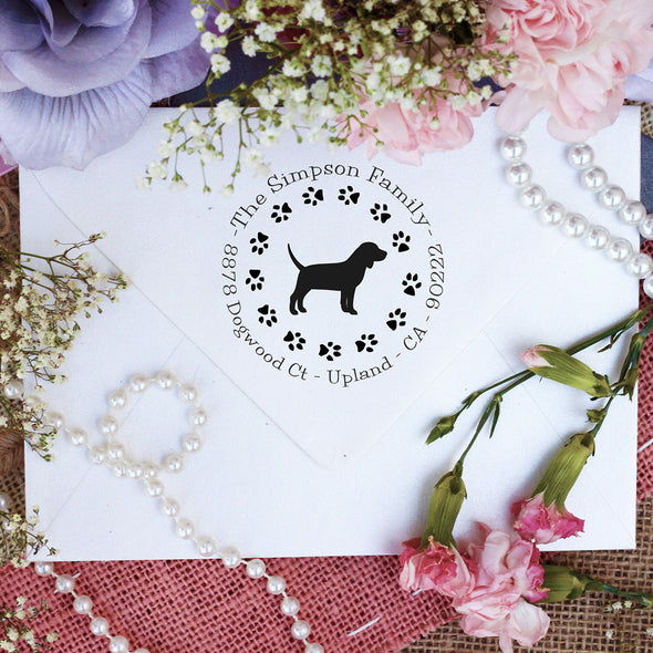 "Dog Return Address Stamp ""Bull Terrier"""