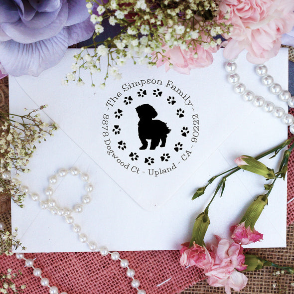 "Dog Return Address Stamp ""Shih Tzu"""