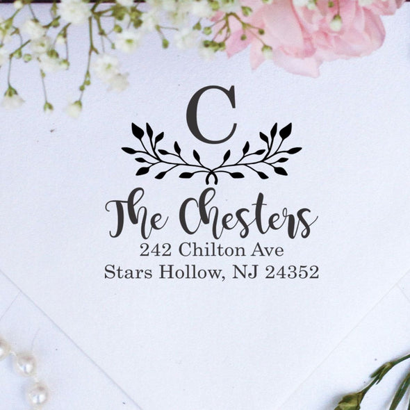"Return Address Stamp ""The Chesters With Initial"""