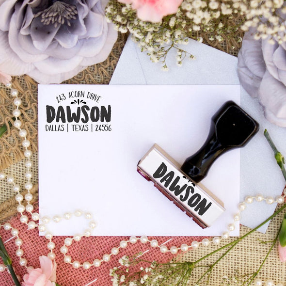 "Return Address Stamp ""Dawson"""