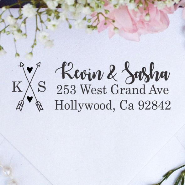 "Return Address Stamp ""Crossing Arrows"""