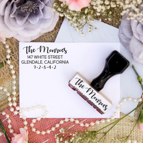 "Return Address Stamp ""The Monroes"""