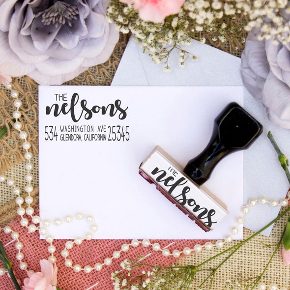 "Return Address Stamp ""The Nelsons"""