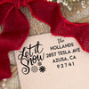 "Return Address Stamp ""Let It Snow"""
