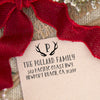 "Return Address Stamp ""Antlers"""
