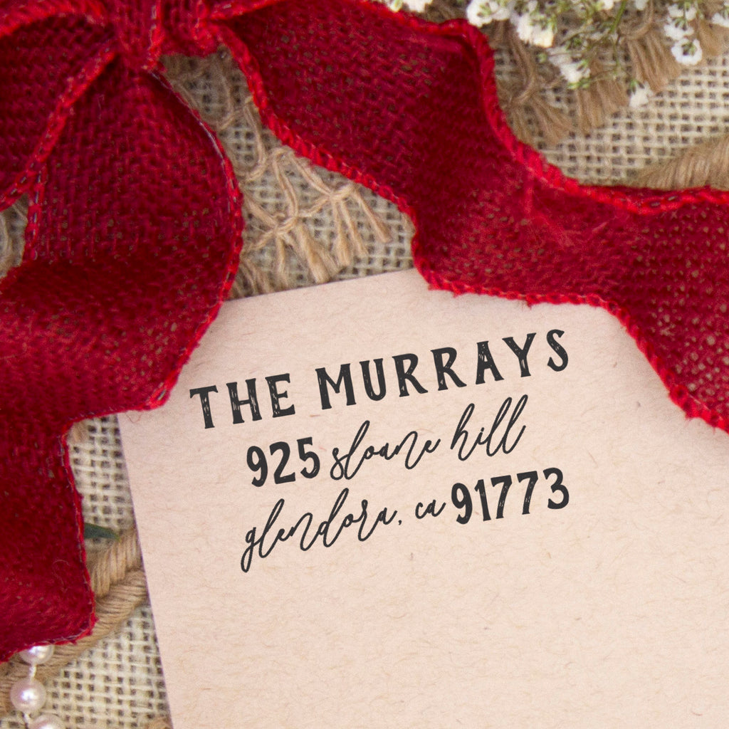 "Return Address Stamp ""The Murrays"""
