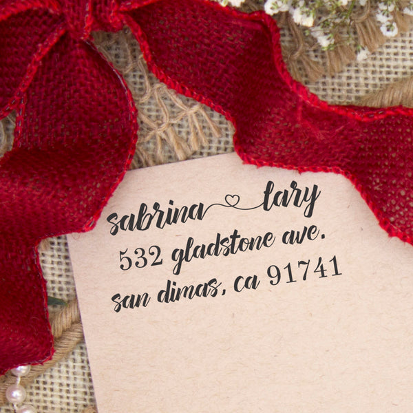 "Return Address Stamp ""Sabrina"""