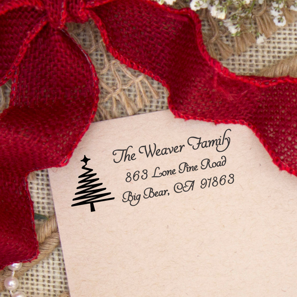 "Return Address Stamp ""The Weaver Family"""