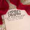 "Merry Christmas Custom Return Address Stamp, Personalized Christmas Return Address Stamp, Family Name Return Address Stamp ""The Spanglers"""
