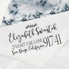 "Custom Return Address Stamp, Personalized Address Stamp, ""Elizabeth Swastek"""