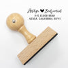 "Custom Return Address Stamp, First Name Stamp, Return Address Stamp ""Hethyr & Benjamin"""
