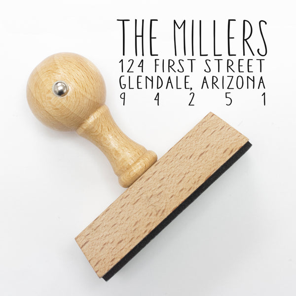 "Modern Custom Address Stamp, Personalized Address Stamp, Return Address Stamp ""The Millers"""