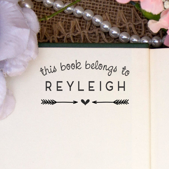 "Personalized Book Belongs to Stamp - ""Reyleigh"" Arrows"
