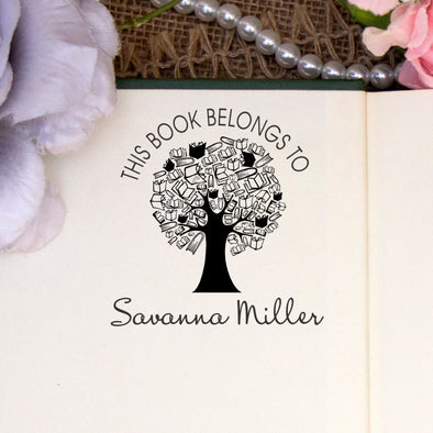 "Personalized Book Belongs to Stamp - ""Savanna"" Tree"