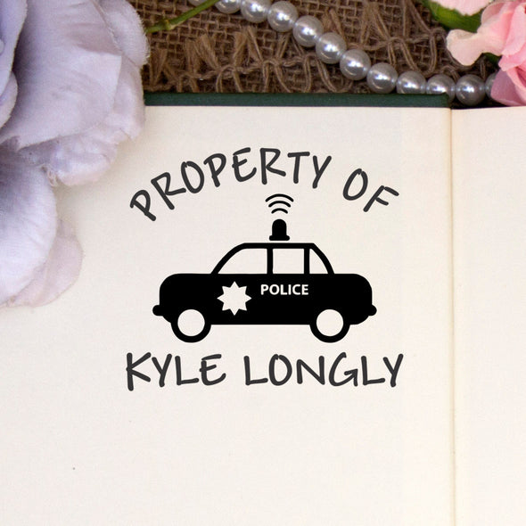 "Personalized Property of Stamp - ""Kyle Longly"" Police Car"