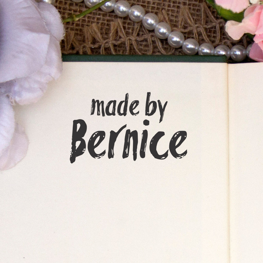 "Personalized Stamp - ""Made by Bernice"""