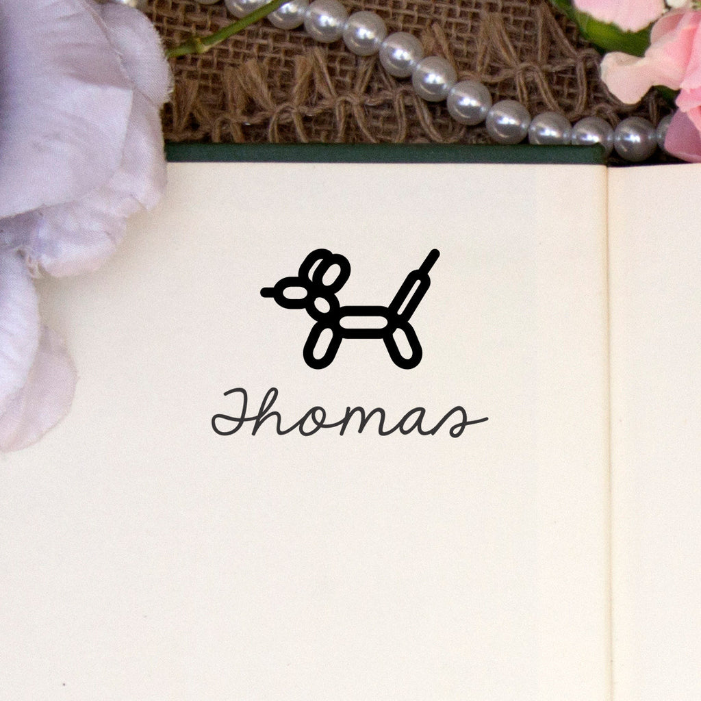 "Personalized Kids Name Stamp - ""Thomas"" Balloon Animal"