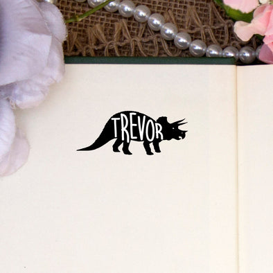 Personalized Kids Name Stamp Dinosaur