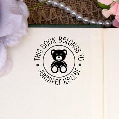 "Personalized Book Belongs to Stamp - ""Jennifer Keller"" Bear"