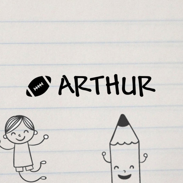 "Personalized Kids Name Stamp - ""Arthur"" Football"