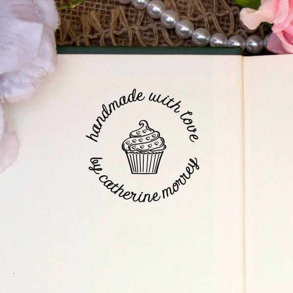 "Personalized Stamp - ""Handmade by Catherine Morrey"""