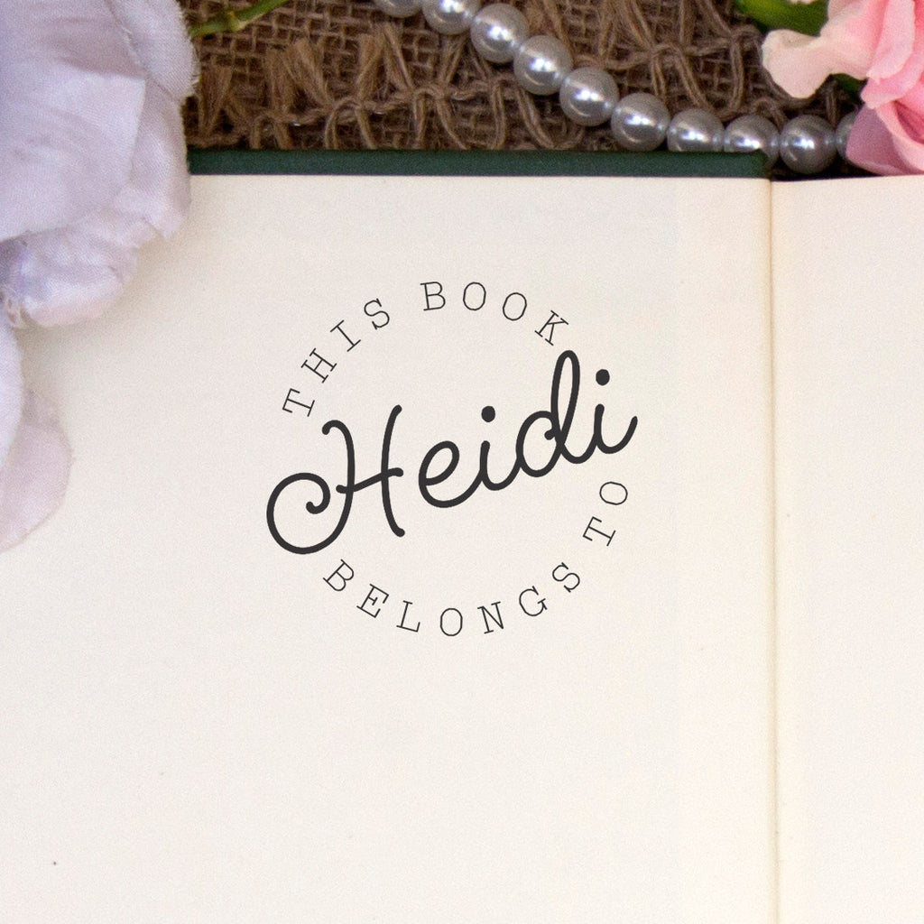 "Personalized Book Belongs to Stamp - ""Heidi"""