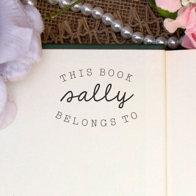 "Personalized Book Belongs to Stamp - ""Sally"""