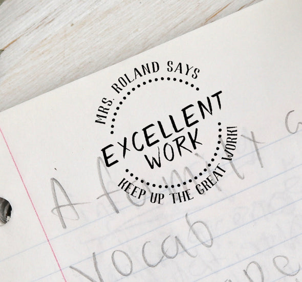Teacher Stamp, Excellent Work Teacher Work, Teacher's stamp