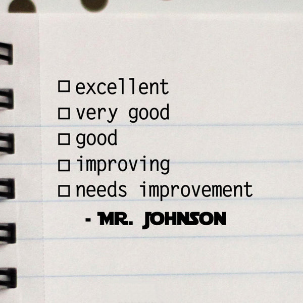 "Teacher Stamp ""Mr Johnson"""