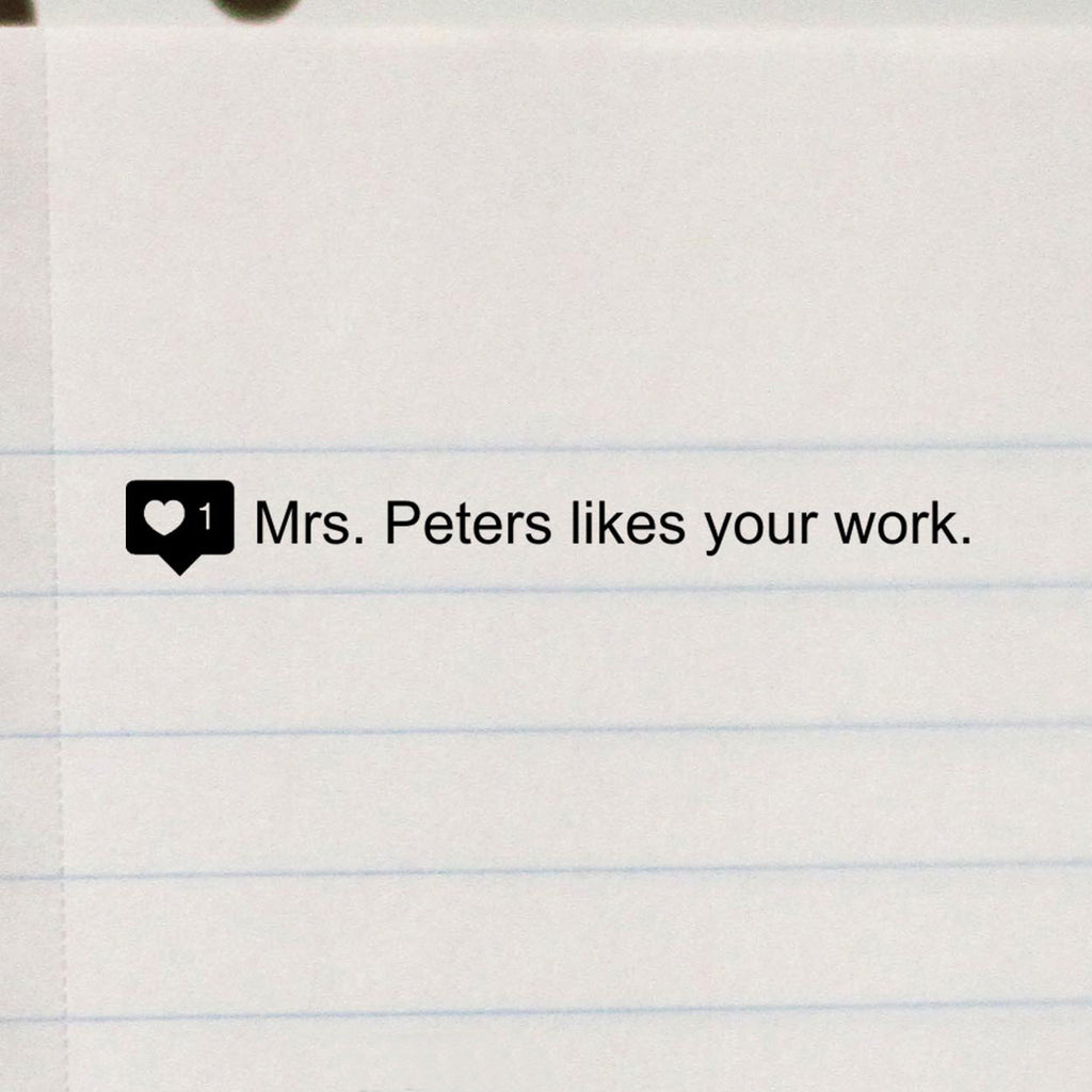 "Teacher Stamp ""Mrs Peters"" Instagram Like"
