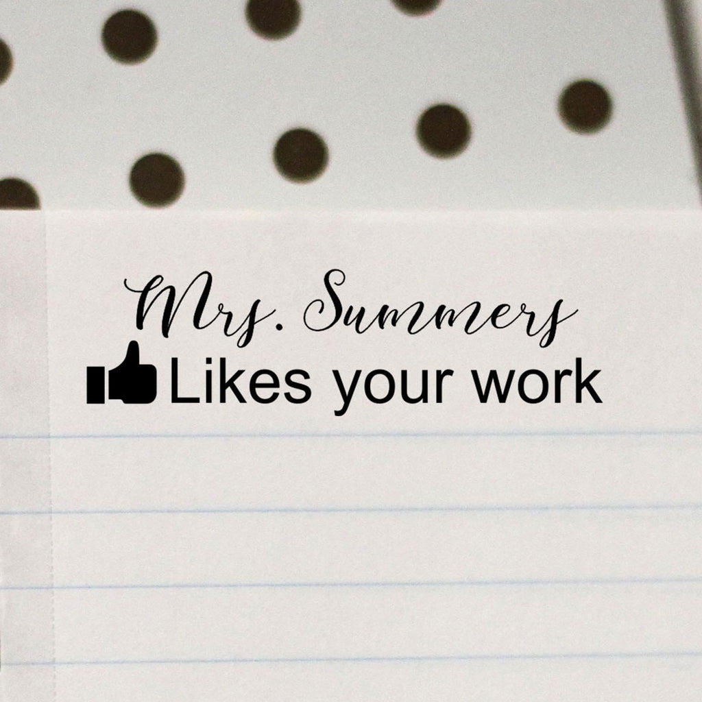 "Teacher Stamp ""Mrs Summers"" Facebook Likes"