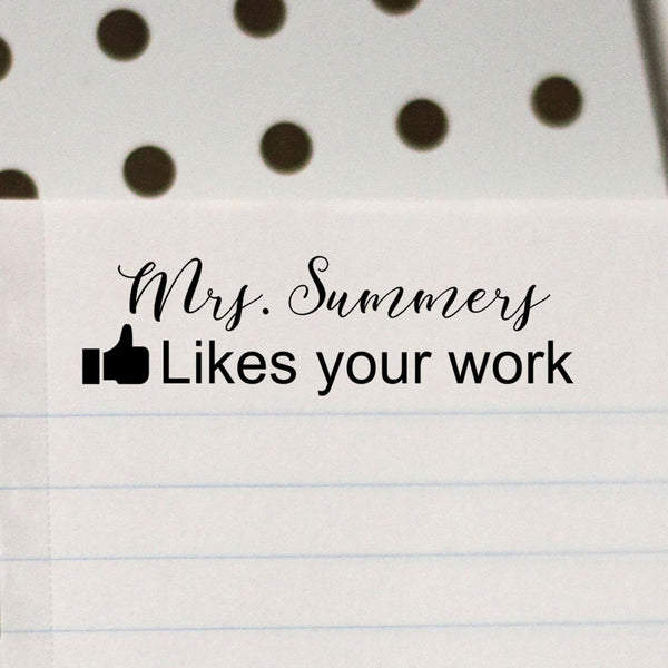 "Teacher Stamp ""Mrs Summers"" Facebook Like"
