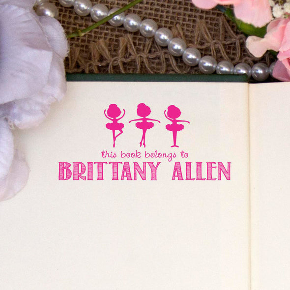 "Personalized Book Belongs to Stamp - ""Brittany"" Ballerina"