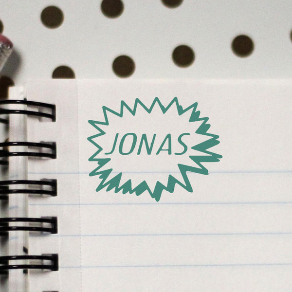 "Personalized Kids Name Stamp - ""Jonas"""