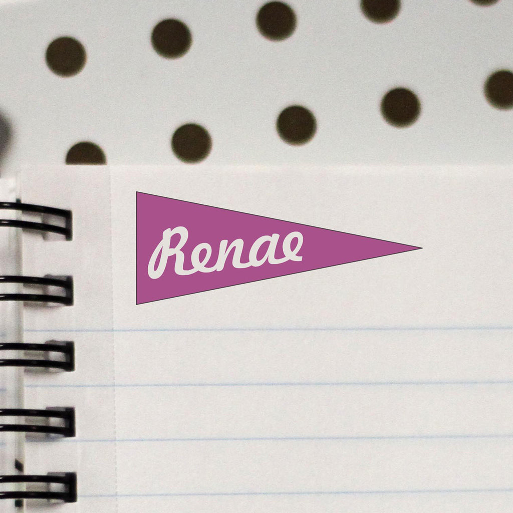 "Personalized Kids Name Stamp - ""Renea"" Flags"