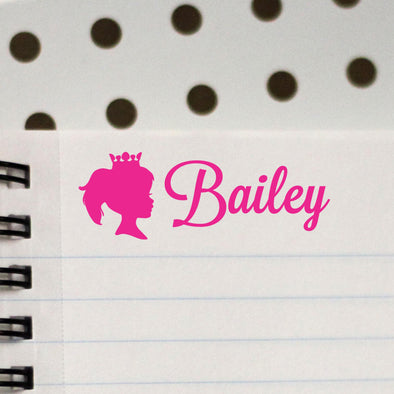 Personalized Kids Name Stamp Princess