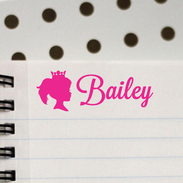"Personalized Kids Name Stamp - ""Bailey"" Princess"