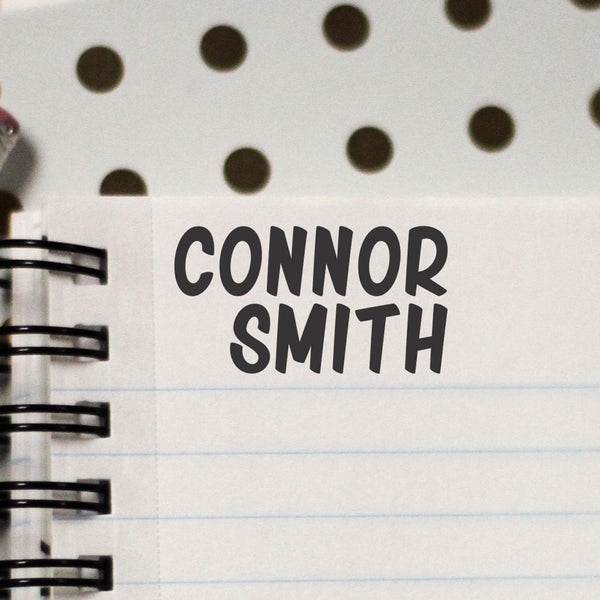 "Personalized Kids Name Stamp - ""Connor"""