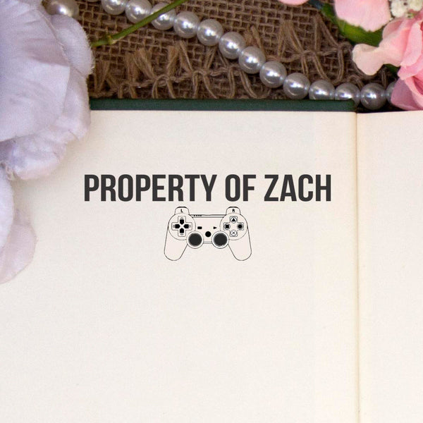 "Personalized Property of Stamp - ""Zach"" Video Game"