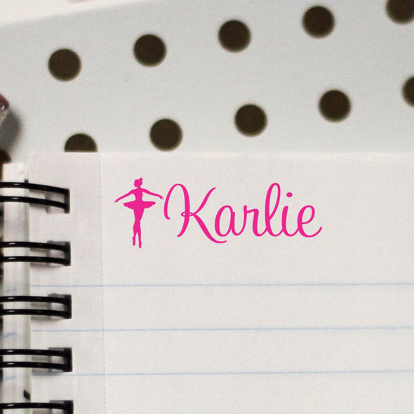 Personalized Kids Name Stamp ballerina