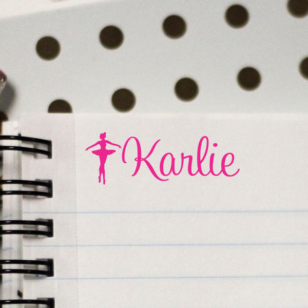 "Personalized Kids Name Stamp - ""Karlie"" Ballerina"