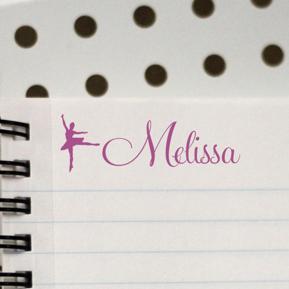 "Personalized Kids Name Stamp - ""Melissa"" Ballerina"