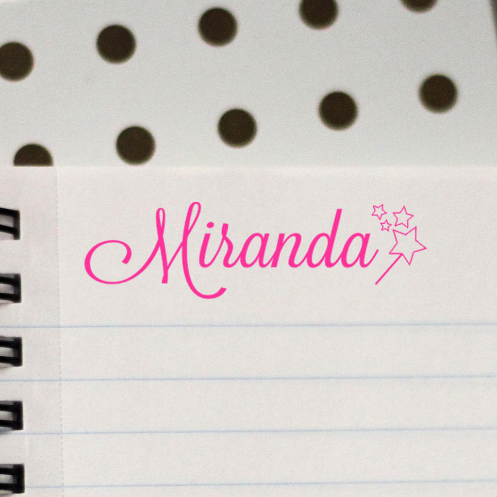 "Personalized Kids Name Stamp - ""Miranda"" Wand"