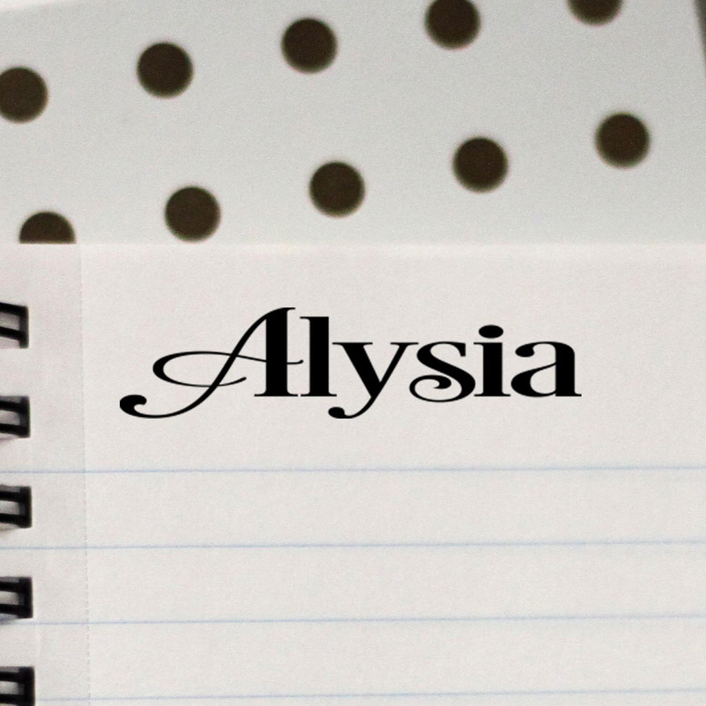 "Personalized Kids Name Stamp - ""Alysia"" Desire"