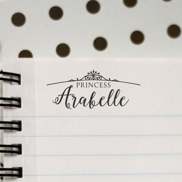 "Personalized Kids Name Stamp - Princess ""Arabelle"""