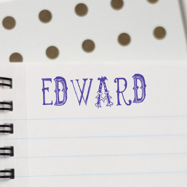 "Personalized Kids Name Stamp - ""Edward"""