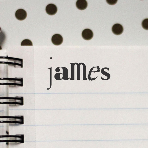 "Personalized Kids Name Stamp - ""James"""