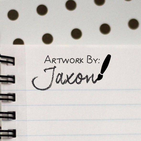 "Personalized Stamp - ""Artwork by Jaxon"""