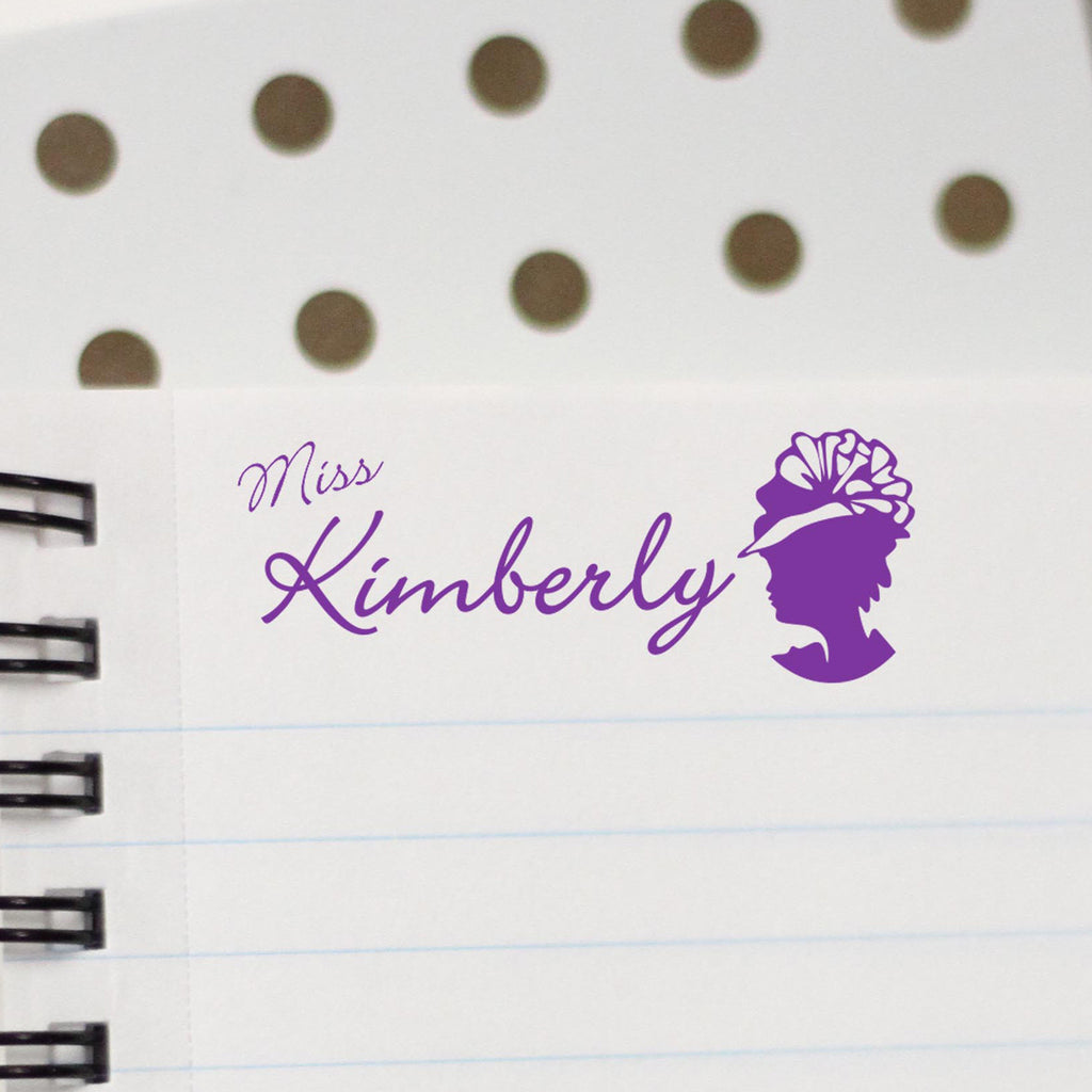 "Personalized Kids Name Stamp - ""Miss Kimberly"""
