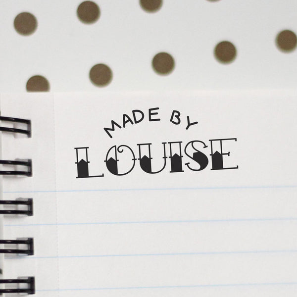 "Personalized Stamp - ""Made by Louise"""